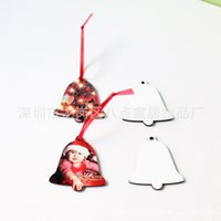 ingrosso decorazioni mdf-FAI DA TE Hot Transfer Printing Ornamento Famiglia sublimazione MDF Ciondolo in legno Eco Friendly decorazioni forniture per Natale
