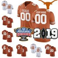 jerseys de texas longhorns al por mayor-NCAA encargo de Texas Longhorns Football Floyd Ehlinger Sterns Collin Johnson Johnson joven Duvernay Washington Smith jerseys Cualquiera Número Nombre