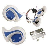 Wholesale auto alarm sirens resale online - 2pcs Loud Horn Auto Speaker Alarm V db Tone Vehicle Boat Car Motor Motorcycle Van Truck Siren