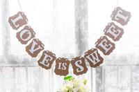 милое фото любви оптовых-Деревенский любовь сладкий знак овсянка баннер гирлянда фото украшения мило