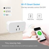 interruptor de salida wifi al por mayor-Smart Wifi Sockets Interruptor inalámbrico Redondo Enchufes de EE. UU. APP Control remoto Toma de corriente Interruptor de temporización para teléfonos inteligentes Android IOS Envío gratis