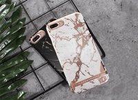 casos do telemóvel do iphone do metal venda por atacado-Casos de telefone de metal duro shell de mármore para iphone xr xs max 8 7 6 6 s plus chegada de alta qualidade mais recente celular shell case