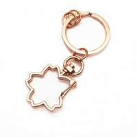 Wholesale star shaped charms resale online - 10pc Star Heart Keychain Bag Charm Woman Men Kids Key Ring Gifts Flower Shape Key Hook Keychain For DIY Keychains Making