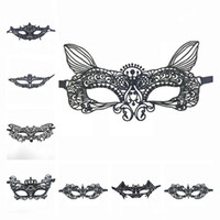 Wholesale christmas women sexy costumes for sale - Group buy 39 Styles Halloween Party Mask Lady Sexy Lace Black Eye Mask Masquerade Black Cutout Blinder Fancy Dress Costume Cosplay T1I1792