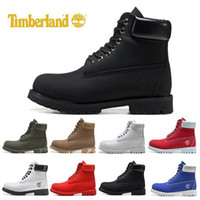 Wholesale white ankle boots men for sale - Group buy 36 Top quality Timberland designer luxury boots mens winter Snow boots womens men Military Triple White Black Camo Green sports sneakers