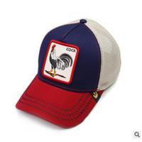 ingrosso cappelli animali-cappello da baseball di serie degli animali di alta qualità euramerican vento animale serie tigre gallo squalo cappello go con l'hip hop di strada su misura