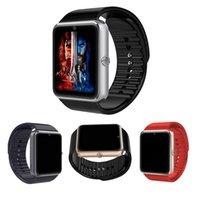 браслет bluetooth часы для iphone оптовых-GT08 Bluetooth Smart Watch с SIM-картой Часы для здоровья для Android Samsung iphone Смартфоны Браслет Smartwatch