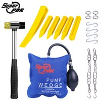 Wholesale tap tool set for sale - Group buy Super PDR Pump Wedge Auto Entry Tool Air Bag Locksmith Opening Car Door Tools Rubber Hammer Tap Down Pen Hand Tools Set Crowbars
