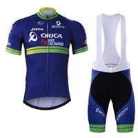 Wholesale bike jerseys kits for sale - 2019 ORICA EDGEGREEN New men Cycling Jersey Set Maillot Ciclismo Short Sleeve Summer Quick Dry MTB Bike Clothing racing sports Kits Y022003