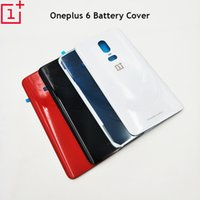 Wholesale iphone back battery cover black for sale – best 100 Original Oneplus Battery Case Hard Door Rear Cover Back Housing D Glass Replacement Repair Part For Oneplus Six
