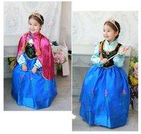yılbaşı için dondurulmuş toptan satış-Prenses Frozen Anna'nın 5-8 yaş arası çocuklar için rol yapma Noel elbisesi