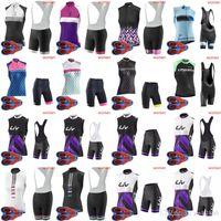 bisiklet çorabı takımları toptan satış-LIV NW takım Bisiklet Kolsuz forması Yelek (önlük) şort Setleri kadın Bisiklet sıkı sportwear 9D jel yastıklı Giyim D1603