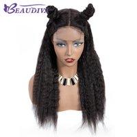 peruca de cabelo reto kinky malaio venda por atacado-Kinky Hetero Lace Wig Encerramento 4 * 4 polegadas perucas Malásia Cabelo Humano Perucas Remy Lace Encerramento perucas de cabelo humano para mulheres
