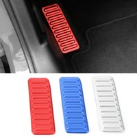 Wholesale foot rest covers resale online - Car Left Foot Rest Pedal Decoration Covers Aluminum alloy For Ford Mustang Auto Interior Accessories