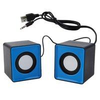 mini caixa som usb toptan satış-Taşınabilir hoparlör Mini USB 2.0 hoparlörler Müzik Stereo bilgisayar Masaüstü PC Laptop Notebook için ev sineması caixa de som para pc