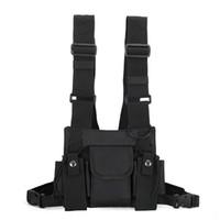 Wholesale pouch belt strap for sale - Group buy With Shoulder Strap Waist Belt Vest Pouch Multi Pockets Tactical Rig Chest Bag Fashion Multifunctional Hip Hop Streetwear Nylon