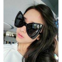 óculos de borboleta claros venda por atacado-Big borboleta óculos de sol Mulheres Cat Eye Leopard elegante vapor Óculos Festival Ladies oculos Punk Itália Superstar Limpar Óculos