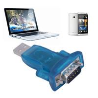 usb seri dönüştürücüler toptan satış-Usb 2.0 rs232 için Yeni USB 2.0 RS232 Seri Dönüştürücü 9 Pin Adaptörü için Win7 / 8 Toptan