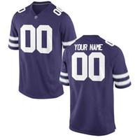 xxl camisa de futebol 43 venda por atacado-Custom Kansas State Wildcats Colégio Camisas de Futebol 7 Collin Klein C.Klein 43 Darren Sproles 27 Nelson 10 Thompson Qualquer Nome # Roxo Branco
