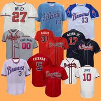 472ff29ad Wholesale freddie freeman jersey online - Atlanta Custom Braves Jerseys  Ozzie Albies Max Fried Freddie Freeman