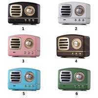 Wholesale vintage basses resale online - Classic Retro Vintage Wireless Bluetooth Speakers Innovative Radio Portable Mini Speaker Stereo Deep Bass FM U disk TF Handsfree Subwoofer