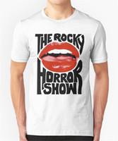 ingrosso magliette a labbra-La camicia Rocky Visualizza T Shirt Lips disegno divertente Tee