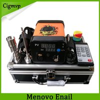 Wholesale electric nail dab rig for sale - Newest Menovo Electric Titainium Dab Nails Pen Rig Oil Wax Dabbing PID TC Box With Domeless Coil Heaer Dnail Kit Silicone Pad