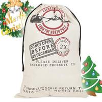 Wholesale christmas present bags for sale - Group buy 4X Santa Sack Large Christmas Decorations Vintage Hessian Xmas Jute Bag Christmas Gift Presents Stocking Filler