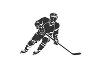 Wholesale unique murals resale online - Energetic Man Holding A Cue And Playing Hockey Car Decals Car Head Sign Unique Art Vinyl Mural FA464
