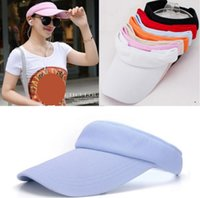 Wholesale adjustable cotton headbands for sale - Group buy Summer pc Women Men Outdoor Wide Brim Sun Visor Golf Tennis Hat Adjustable Sports Headband Beach sun Cap
