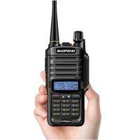 walkie talkie de maior alcance venda por atacado-2019 NOVA Atualização de Alta Potência Baofeng UV-9R plus Walkie talkie À Prova D 'Água 10 w para rádio em dois sentidos longo alcance 10 km 4500 mah uv 9r plus