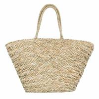 bolso de paja de playa con cordón al por mayor-Nueva Bohemia Bolsa de Playa Mujeres hecho a mano bolsos de la paja hierba del verano bolsos de lazo cesta de totalizadores del bolso del totalizador del recorrido de gran tamaño