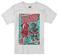 Wholesale vintage robots for sale - Group buy Exclusive Men s T shirt Vintage Robot Combat Design sb1044