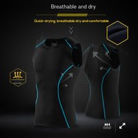 Wholesale tight clothes for men for sale - Group buy New Summer Compression Sports Tight Suits Bike Clothes Wear Cycling Jerseys Clothing for Mans Sleeveless Gym Vest Shorts