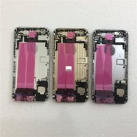 conjunto de cable flexible al por mayor-JIEPEI para iPhone 6 6 Plus Parte posterior Chasis del chasis medio Conjunto de carcasa completa Tapa de la batería Puerta trasera con cable flexible