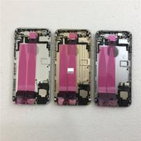 ingrosso barra del telaio della porta-JIEPEI per iPhone 6 6 Plus Telaio centrale posteriore Telaio alloggiamento completo Coperchio batteria Sportello posteriore con cavo flessibile
