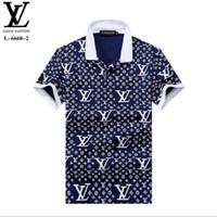 g strip achat en gros de-TRR 2019 Italie designer polo shirt t shirts mens polos occasionnels avec broderie lettre g mode bande imprimer coton polos M-2XL