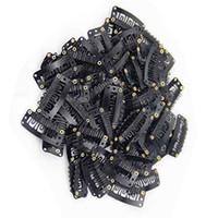 cabello negro al por mayor-QueenGirl U Sharp Snap Clips 28mm para Extensiones de Cabello Negro Marrón Rubio Accesorios de Color 50 unids / lote