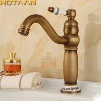 ingrosso rubinetti a mano singola in bronzo-Spedizione gratuita contemporanea conciso rubinetto del bagno bronzo antico finitura in ottone lavandino rubinetto rubinetto singola maniglia rubinetti dell'acqua YT5098