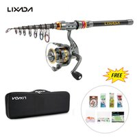 Wholesale ice gear for sale - Group buy 1 m Fishing Rod Reel Combo Full Kit Spinning Reel Pole Set With Line Lure In Bag Carp Ice Fishing Gear