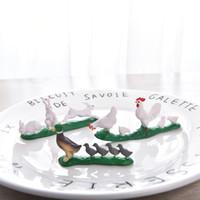 ingrosso figurine del fumetto-Cartoon Animal Model Toy Figurine Decorazione domestica Miniature Moss Landscape Ornament PVC Craft
