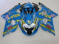 motocicletas gsxr plásticos venda por atacado-Novo ABS kits de carenagem da motocicleta de plástico para Suzuki GSXR 600 750 04 05 kit de carenagem GSX-R600 R750 2005 2004 carretéis de carroçaria personalizado