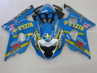motos gsxr plasticos al por mayor-Nuevos kits de cuerpo de carenado de la motocicleta de plástico ABS para Suzuki GSXR 600 750 04 05 Carenado GSX-R600 R750 2004 2005 carenados de carrocería personalizados