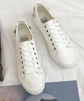 Wholesale korean canvas shoes for women for sale - Group buy Canvas Shoes for Low class Students Korean Version Spring and Autumn Baitao Harajuku New Small White Shoes