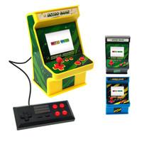 jogos de arcade crianças venda por atacado-Novo Clássico Retro Mini Arcade Nostálgico Crianças Máquina de Jogo 256 Em 1 Jogo Duplo Arcade DHL Livre