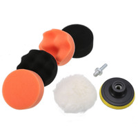 Wholesale buffing pads for cars for sale - Group buy 7pcs quot mm Car Polishing Buffing Pad Set Wheel Kit Drill Adapter for Car Buffer Sponge Wheel Kit Polisher Car styling
