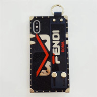 Wholesale wrist strap handbag for sale - Group buy Luxury TPU Phone Case Wrist Band Strap Style Smart for IPhone X P P s Plus Back Cover Famous Brand
