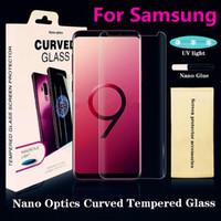 ingrosso corpo temperamento-UV NANO Optics Liquid Full Cover Colla 3D curvo vetro temperato Protezione dello schermo del telefono per Samsung Galaxy Note9 S9 S9Plus S8 S8Plus Nota8