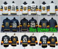ingrosso pullover di hockey su ghiaccio-Spedizione gratuita 17 -18 New Vegas Golden Knights Jersey 29 Marc-Andre Fleury 18 James Neal Man Hockey su ghiaccio Uomo Donna Bambini Youth Grigio Grigio Bianco