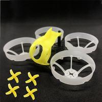 fırçasız motorlu pervane toptan satış-FullSpeed TinyLeader Yedek parça 75mm Fırçasız Whoop Çerçeve Kiti w / Gölgelik 40mm 1.5mm 4-Blade Pervane RC Drone FPV için Yarış